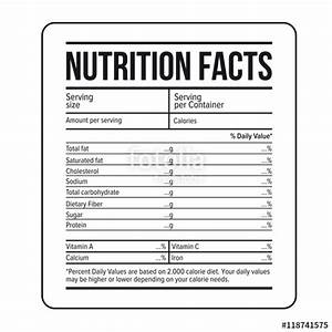 quotnutrition facts label template vectorquot stock image and With nutrition facts label template download