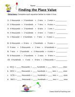 numeration grade  images math place