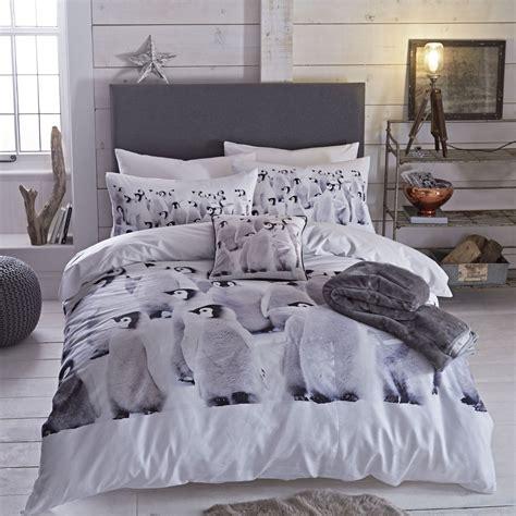 penguin single double king duvet quilt cover cotton rich