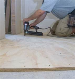 Install Plywood Underlayment for Vinyl Flooring - Extreme
