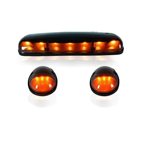 led cab lights chevy recon 264155bk chevy gmc 02 07 classic smoked amber cab