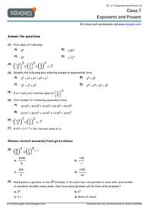 working with exponents worksheets math worksheet for grade 7 laptuoso