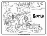 Jake Pirates Neverland Coloring Pages Sheets Disney Bucky Pirate Never Land Ship Junior Characters sketch template