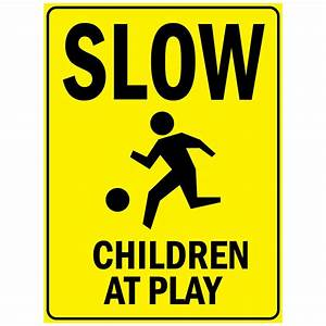 Slow Children At Play With Aluminum METAL Sign eBay