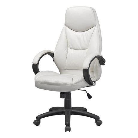 corliving workspace white leatherette executive office