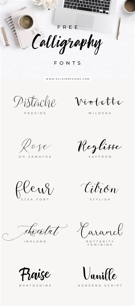 Calligraphy Font by Eclair Designs 10 Free Calligraphy Fonts