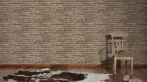 Tapete Grau Braun : vlies tapete stein wand ziegelstein backstein klinker ~ A.2002-acura-tl-radio.info Haus und Dekorationen