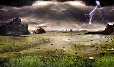 Rainstorm Animated Wallpaper - thunderstorm field animated wallpaper