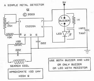 Simple Metal Detector Based Cs209a