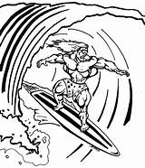 Coloring Surfing Pages Surf Board Surfboard Surfer Drawing Silver Printable Surfboards Template Clipart Parasail Colorings Boards Getcolorings Getdrawings Drawings Print sketch template