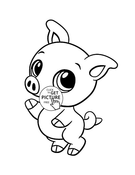 Coloring Pages Baby Cartoon Animals - Coloring Home