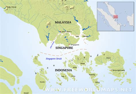 map  indonesia  singapore  travel information