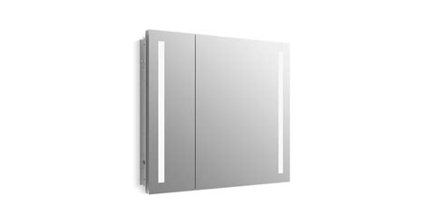 kohler lighted medicine cabinet k 99009 tl verdera lighted medicine cabinet 34 quot w x 30