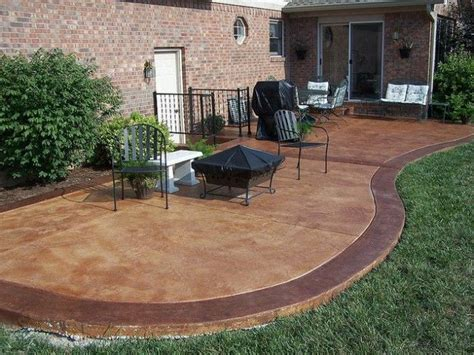 colored concrete patio ideas with pit search