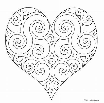Coloring Heart Pages Printable Cool2bkids Template Hearts