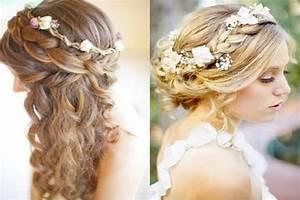 Coiffure Mariage Facile Cheveux Mi Long : photos coiffure cheveux mi long mariage facile ~ Nature-et-papiers.com Idées de Décoration