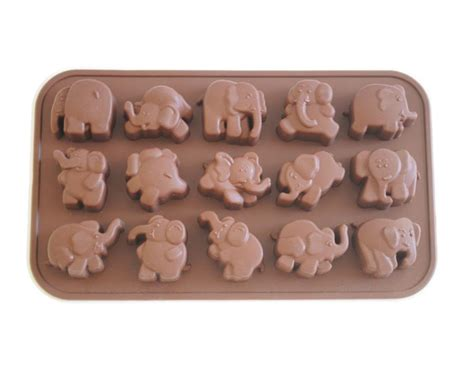dancing elephant cake chocolate mold silicone