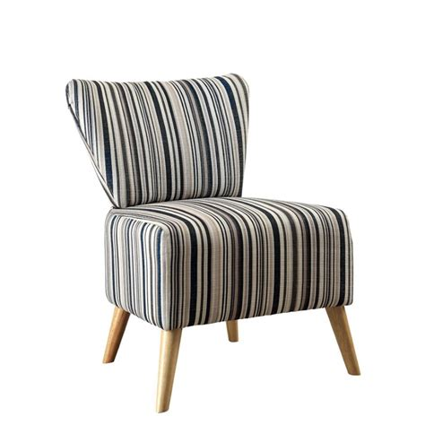 furniture of america kieron fabric striped accent chair in