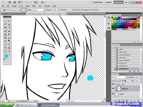 anime eyes tutorial step  step coloring drawing