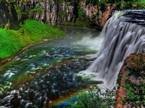 Landscape, Waterfall, Rocks, Trees Hd Wallpaper 142086 ...