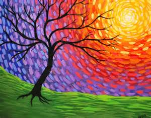 easy abstract tree painting wallmaya