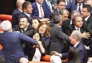 Fist fight erupts in Turkish Parliament between AKP, HDP ...