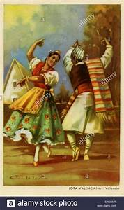 Couple Performing The Jota Dance  Valencia  The Jota Is A