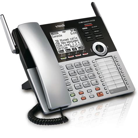 small business phone systems vtech 4 line small business system console cm18445