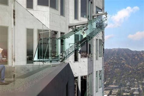 us bank tower observation deck opening date la s terrifying skyslide will freak you out matador