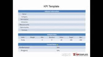 Kpi Report Sle Format by Ready To Use Kpi Templates