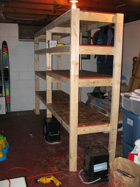 cheap  easy diy shelves   basement basement