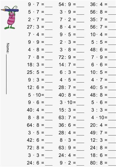 matematika feladatok  osztaly szorzas osztas nyomtathato