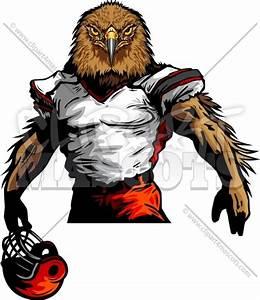 Hawk Football Mascot Graphic Vector Cartoon