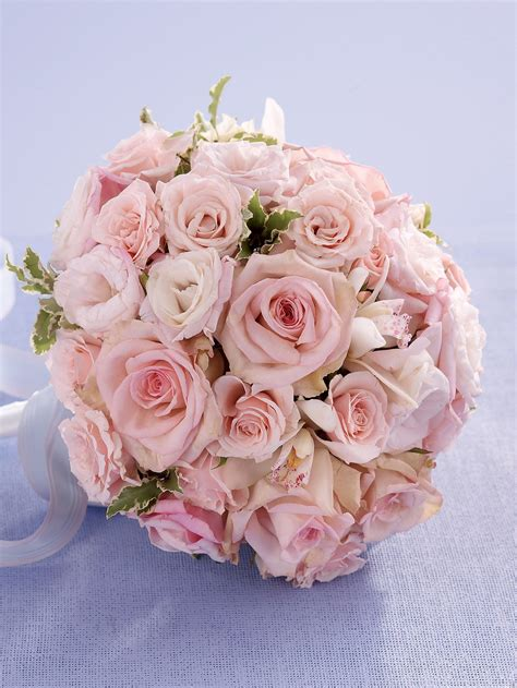 soft pink rose orchid bridal bouquet