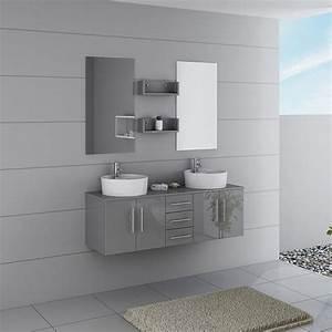 Dis747gt meuble salle de bain gris taupe taupe for Meuble salle de bain taupe