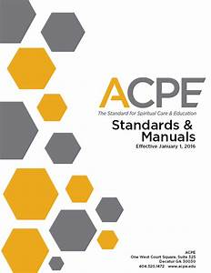 Cover Page - Acpe Manuals