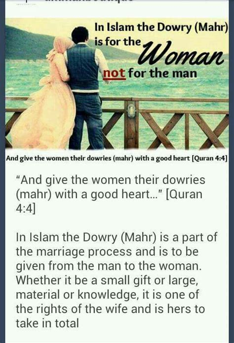 Dowry Quotes In Islam