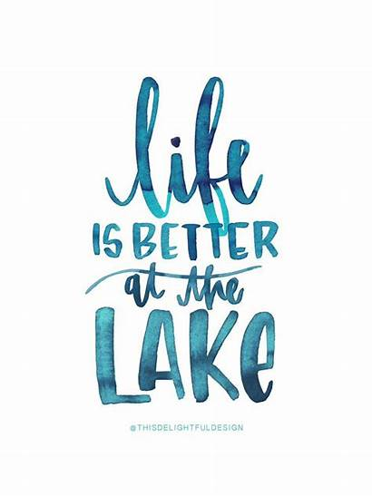 Lake Quotes Better Watercolor Quote Sea Katie