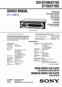 Sony Cdx Gt500 Wiring Diagram