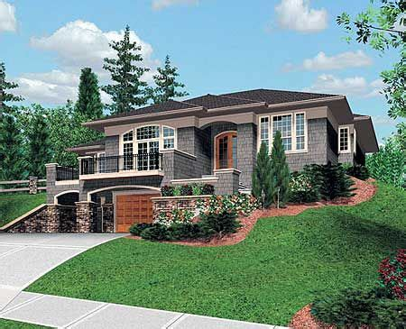 sloping lot idea sloping lot house plan contemporary house plans craftsman house plan