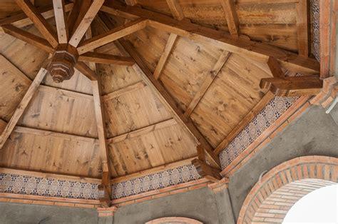techo octogonal  jardin carpinteria santa clara