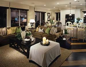 lighting small home open concept living space with With kitchen dining and living room design