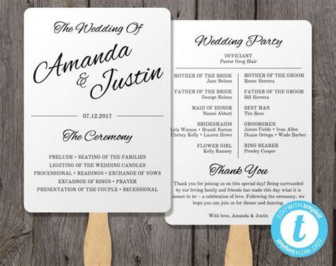 free wedding program fan printable wedding programs templates vastuuonminun