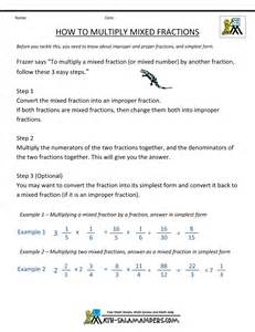 How to Multiply Fractions Worksheets