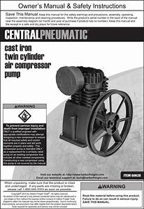 Harbor Freight 3 Hp 145 Psi Cast Iron Twin Cylinder Air