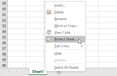 protect a sheet in excel easy excel tutorial