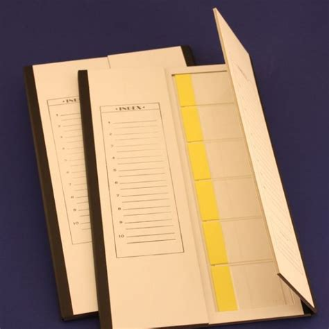 Brain Research Laboratories Cardboard Slide Folder