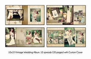 psd wedding album template vintage 10x10 10spread20 With wedding photo album templates in photoshop