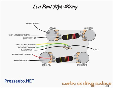 Les Paul Wiring Schematic Free Diagram