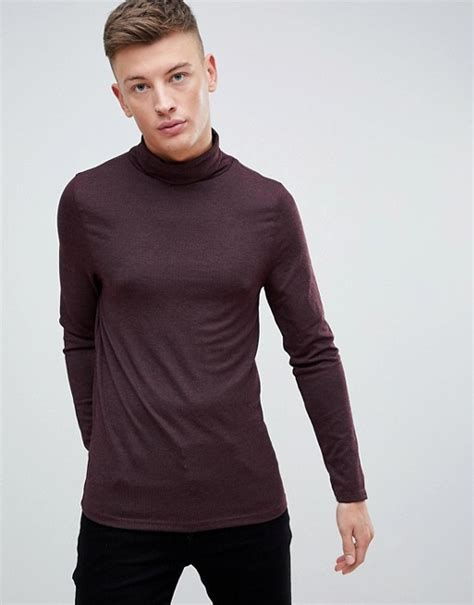 Roll Neck Rib River Island river island river island ribbed roll neck jumper in